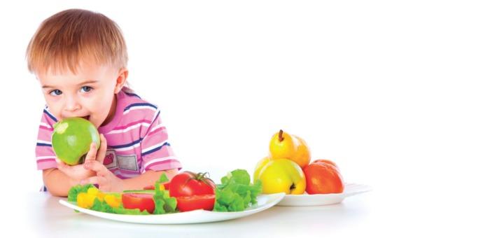frutas y verduras en la alimentación infantil